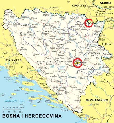 karta bosne i srbije Info Dobra Vojvodine karta bosne i srbije